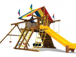 Rainbow Castle Style Swing Set
