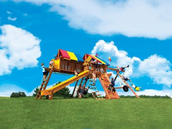 Rainbow King Kong Castle swing set