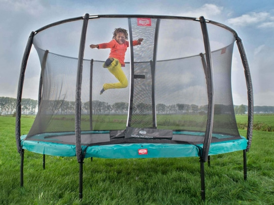 Boy jumping on Berg trampoline