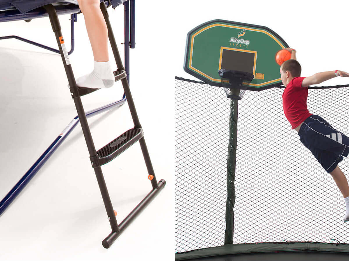 Alley Oop Trampoline Ladder and Hoop