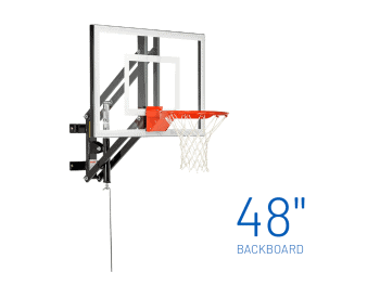 Basketball Hoop Wall Mount Adjustable Gs48