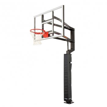 Custom Fit Basketball Hoop Pole Pad Black