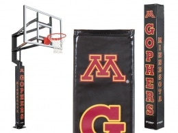 Goalsetter pole pad with Minnesota Gophers logo and text