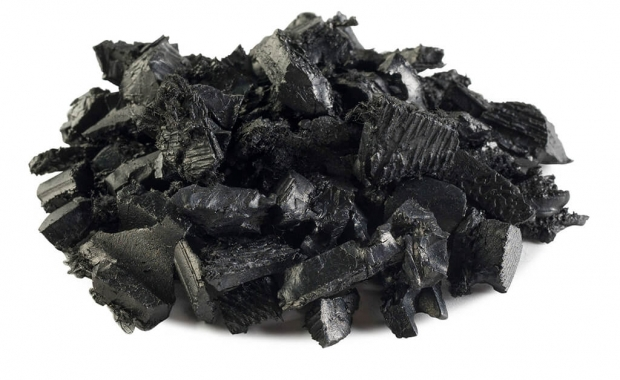 Rubber Mulch Black Dyed Solid