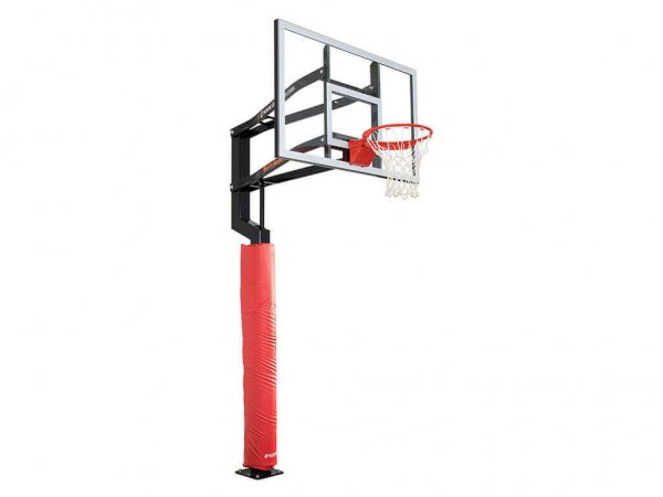 Wrap Around Basketball Hoop Pole Pad Red